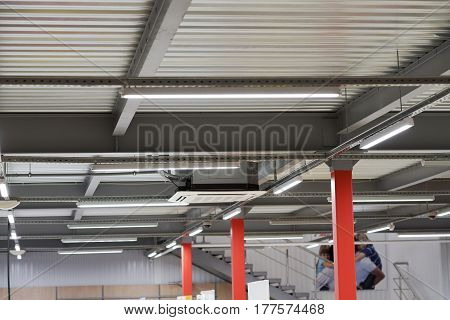 Installation Of Lighting Fixtures Suspended Ceiling