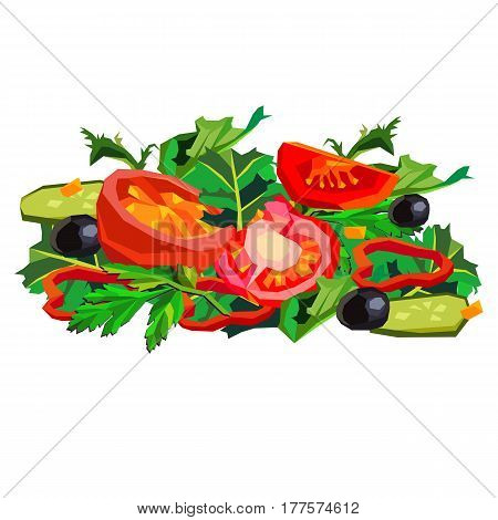 Let's make a salad! salad, food, healthy, tomato, organic, vegetable, vegetarian
