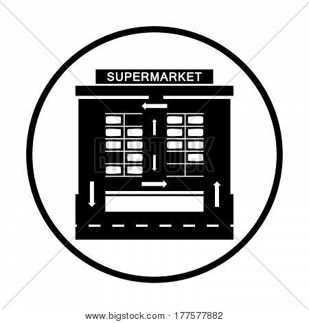 Supermarket Parking Square Icon