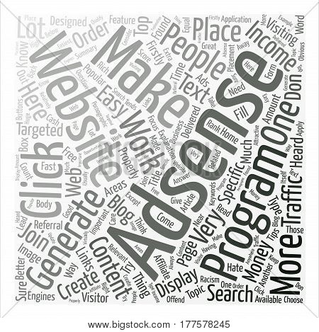 Adsense Top Tips On How To Make Your Adsense Business Work Better Word Cloud Concept Text Background