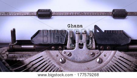 Old Typewriter - Ghana