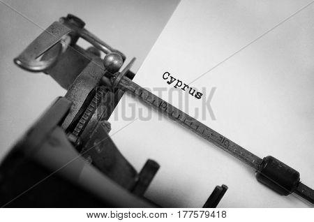Old Typewriter - Cyprus