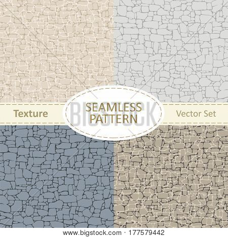 Seamless texture of stone in different colors