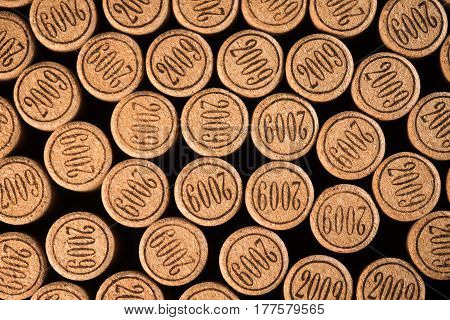 Background Of Used Wine Corks.