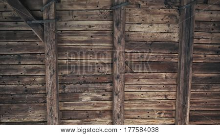Old rusty wooden planks