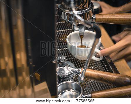 Coffee Machine Making Espresso shot Cafe Restaurant