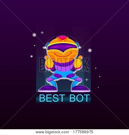 Best Chatbot vector illustration, Thumbs up, chatbot or chatbot