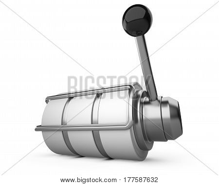 One-armed bandit slot machine. 3d illustration high resolution isolated on white bacground.