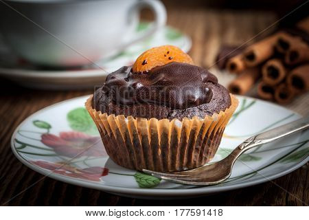 Freshly Baked Chocolate Muffins.