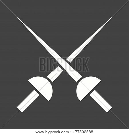 Fencing, sport, sword icon vector image. Can also be used for olympics. Suitable for mobile apps, web apps and print media.