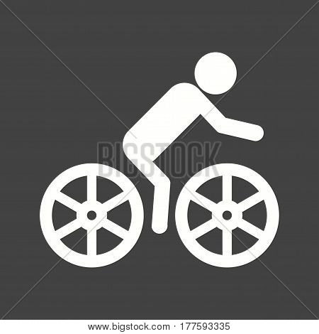 Cycling, games, indoor icon vector image. Can also be used for olympics. Suitable for mobile apps, web apps and print media.