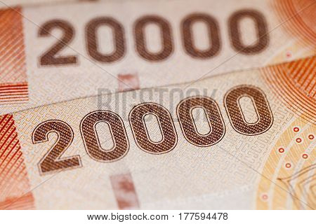 Closeup On The Chilean Currency