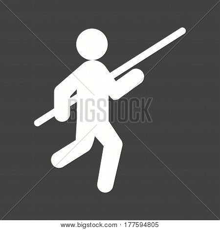 Pole, vault, olympic icon vector image. Can also be used for olympics. Suitable for mobile apps, web apps and print media.
