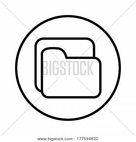 Thin Line File Folder Icon
