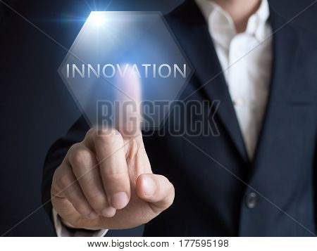 Business, Internet and technology concept. Businessman select Innovations