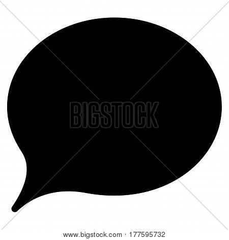 Hint Balloon vector icon. Flat black symbol. Pictogram is isolated on a white background. Designed for web and software interfaces.