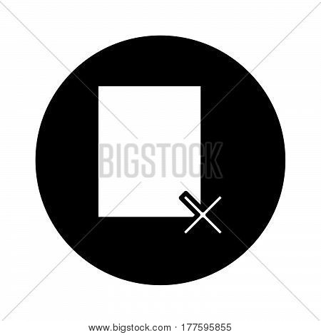 Flat Black Wrong File Sign Icon