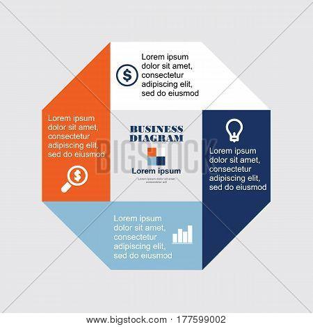 Business Diagram Octagon