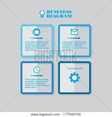Business Diagram Square