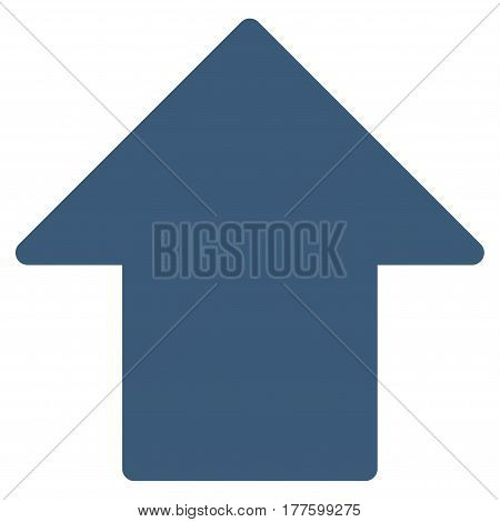 Arrow Up vector icon. Flat blue symbol. Pictogram is isolated on a white background. Designed for web and software interfaces.