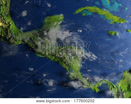 Central America On Planet Earth