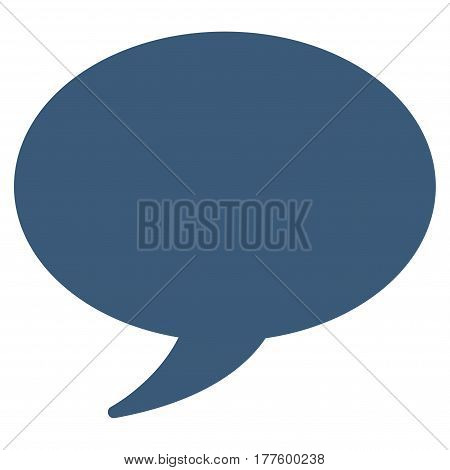 Message Balloon vector icon. Flat blue symbol. Pictogram is isolated on a white background. Designed for web and software interfaces.