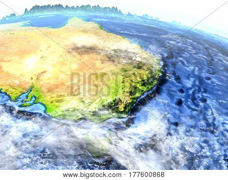East Coast Of Australia On Earth - Visible Ocean Floor