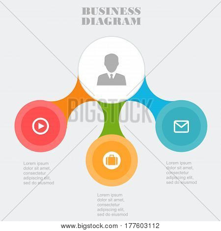 Business Template, Pie Business Chart, Onceptual Creative Template, Infographic Elements