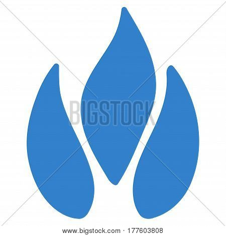 Fire vector icon. Flat cobalt symbol. Pictogram is isolated on a white background. Designed for web and software interfaces.