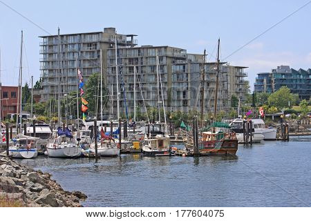 Fisherman's Wharf in Victoria on Vancouver Island