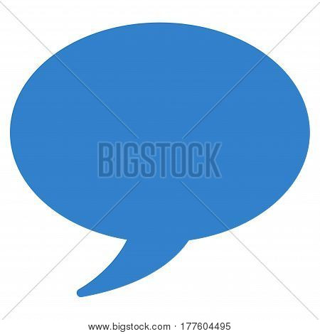 Message Balloon vector icon. Flat cobalt symbol. Pictogram is isolated on a white background. Designed for web and software interfaces.