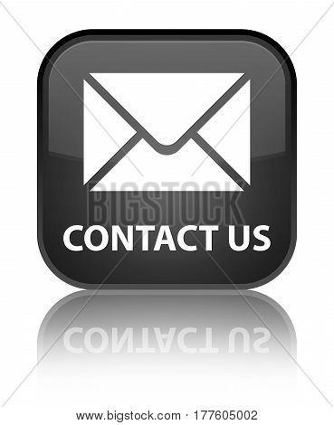 Contact Us (email Icon) Special Black Square Button