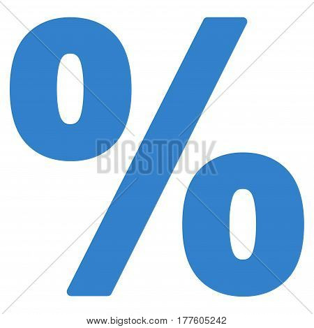 Percent vector icon. Flat cobalt symbol. Pictogram is isolated on a white background. Designed for web and software interfaces.