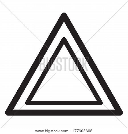 Emergency sign icon alarm alert caution triangle beware