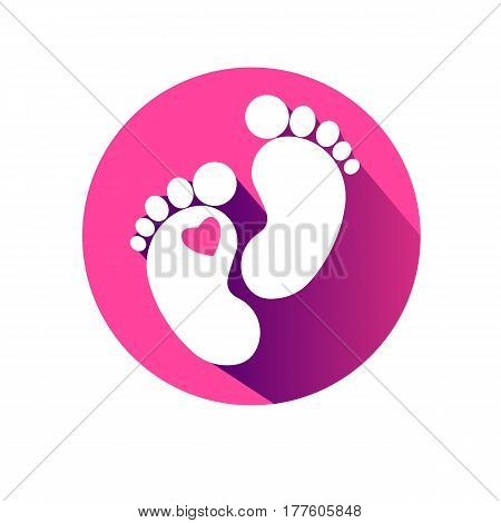 foot vector imprint footprint symbol graphic illustration