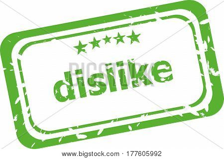 Dislike Stamp Sign Text Word Logo Isolated On White