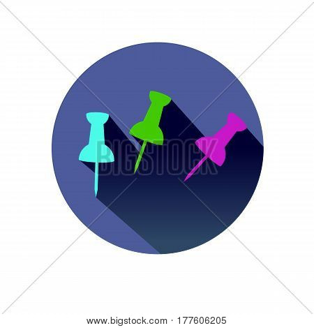 vector button needle color shadow sharp sign