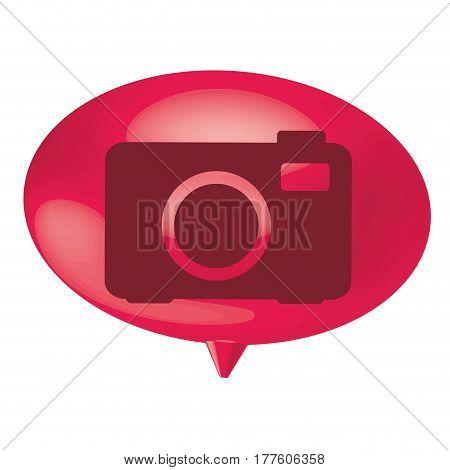 fuchsia bubble camera icon, vector illustration design
