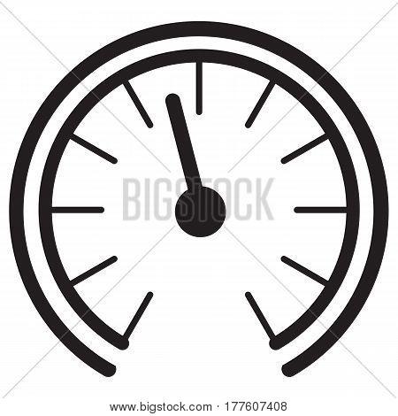 Gauge Meter Icon  fuel vector speed car petrol symbol