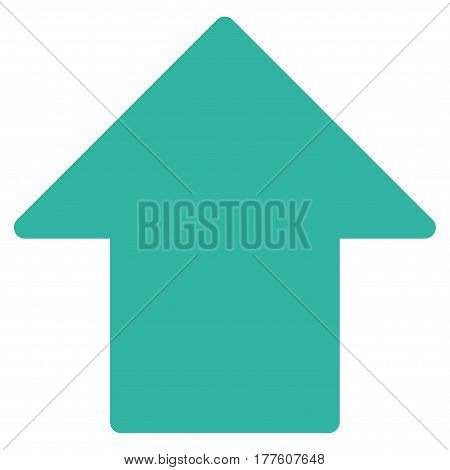 Arrow Up vector icon. Flat cyan symbol. Pictogram is isolated on a white background. Designed for web and software interfaces.