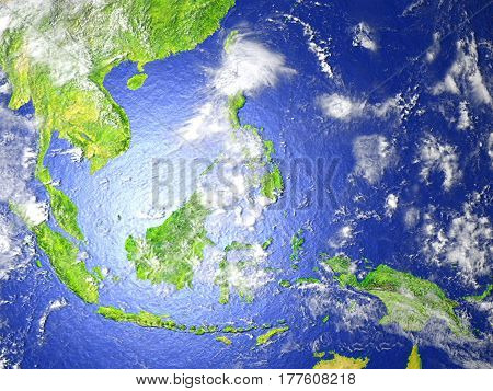 Indonesia On Realistic Model Of Earth