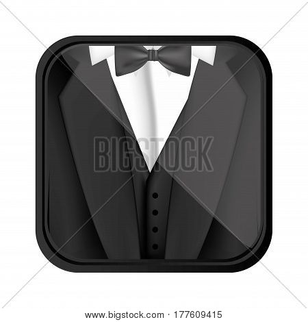 formal suit cloth icon, vector illustration design