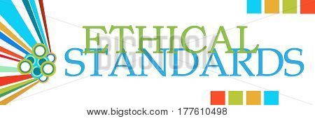 Ethical standards text written over colorful background.