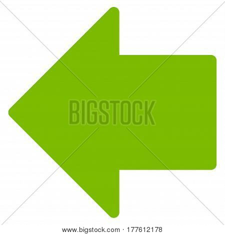 Arrow Left vector icon. Flat eco green symbol. Pictogram is isolated on a white background. Designed for web and software interfaces.
