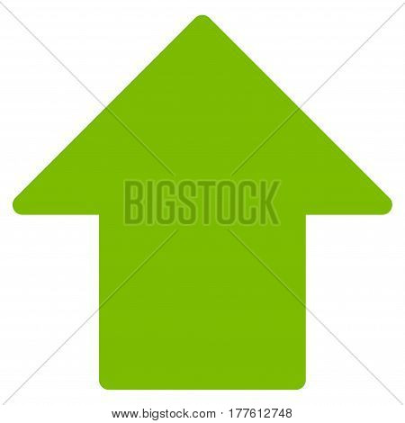 Arrow Up vector icon. Flat eco green symbol. Pictogram is isolated on a white background. Designed for web and software interfaces.