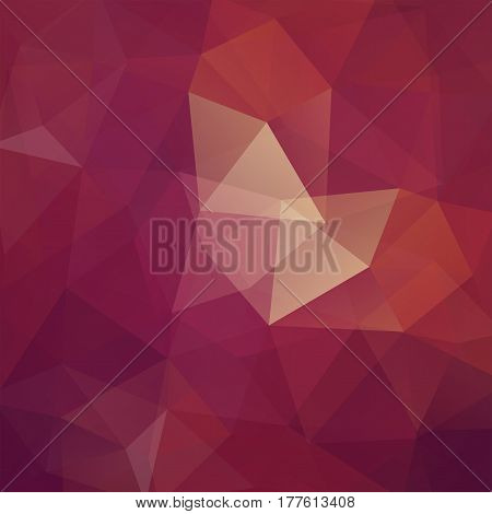 Abstract background consisting of brown triangles. Geometric design for business presentations or web template banner flyer. Vector illustration