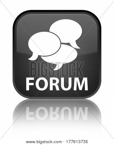 Forum (comments Icon) Special Black Square Button
