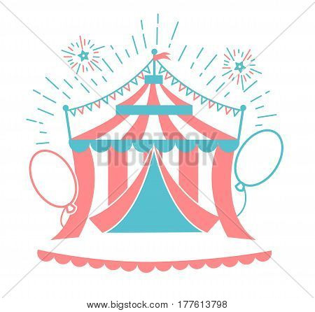 Icon Of The Circus Tent For Logo