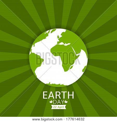 Earth day illustration. Green planet concept, Vector illustration