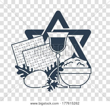 Silhouette Icon Holiday Pesach
